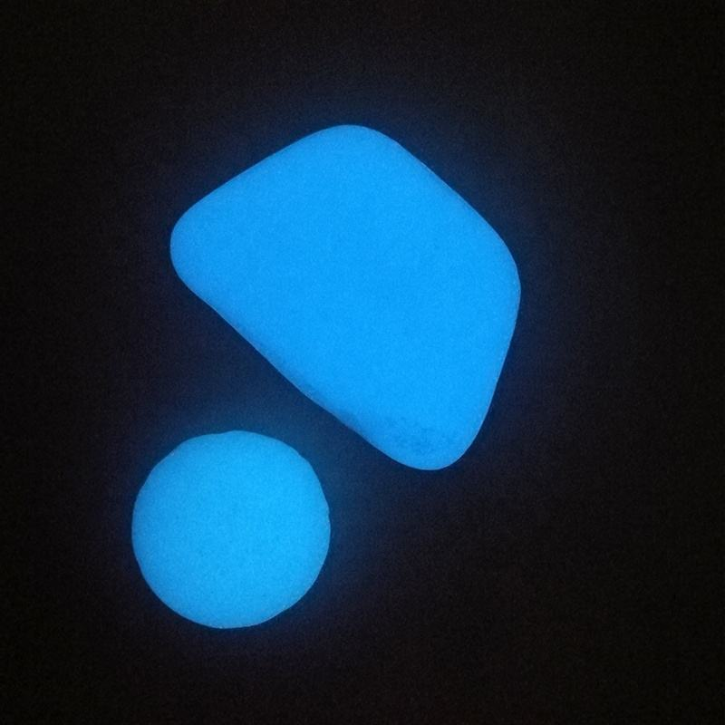 Glow in the dark garden glass rocks