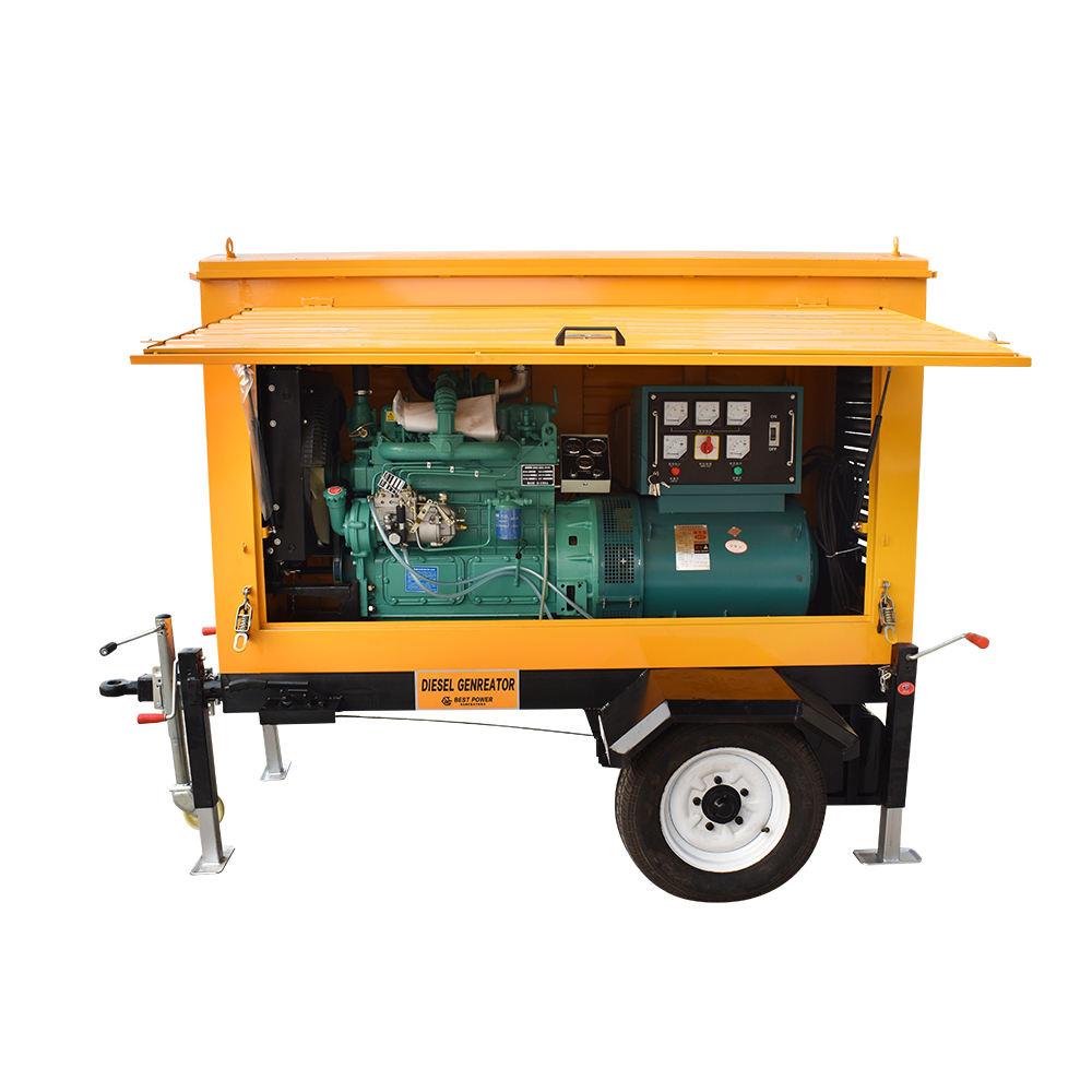 movable 40kw 50kva Ricardo diesel generator with 310-400A welding machine