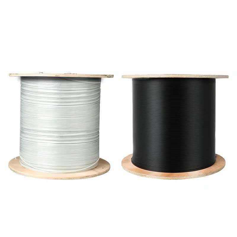Self-supporting Outdoor Steel Messenger Wire FRP G657 FTTH Drop Fibra Optica 2 4 1 core fiber optic cable