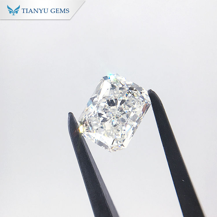 Tianyu Lab Grown Diamond IGI certificate 1.84ct GH/si CVD VG cut Radiant lab created diamond loose pass diamond tester