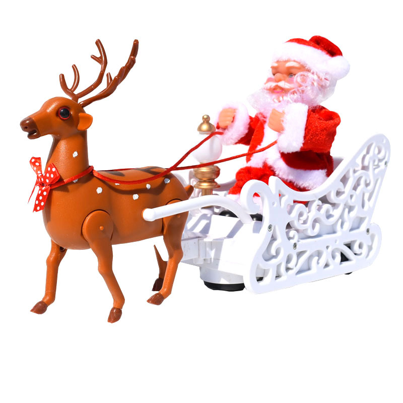 2020 New Christmas Gifts Decoration Home Music Singing Christmas Old Man Car Child Christmas Toy
