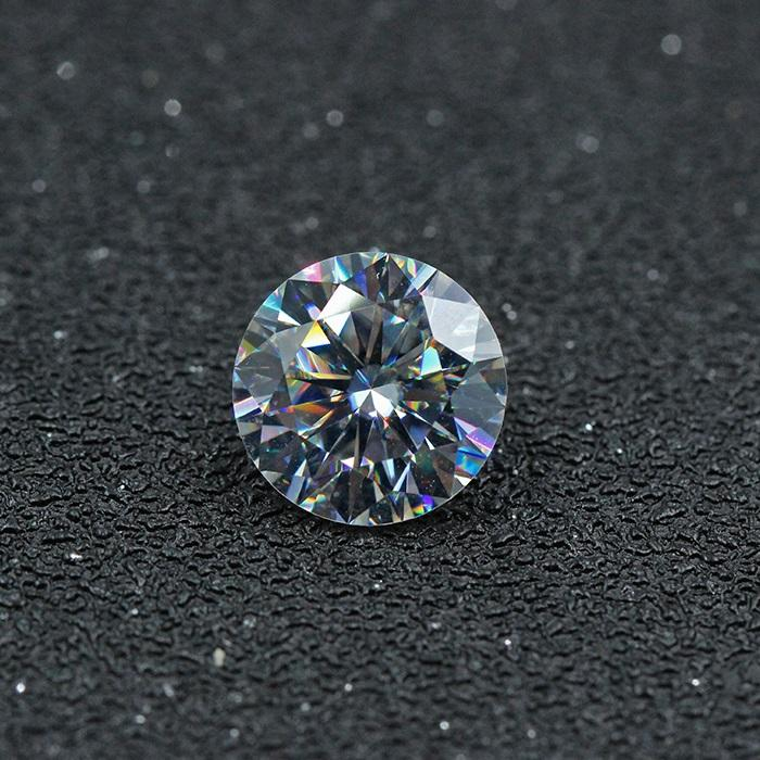 GRA Certified H&A Cutting 1.0 Ct DEF White Color Loose Moissanite Gemstone