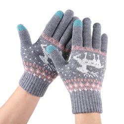 Wholesale winter fashionable warm and non-slip knitted touch