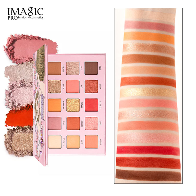IMAGIC Low Moq Pigment Eyeshadow Suit For All Occasions Water-locking Highly Pigmented Eye Shadow Palette With Mirror