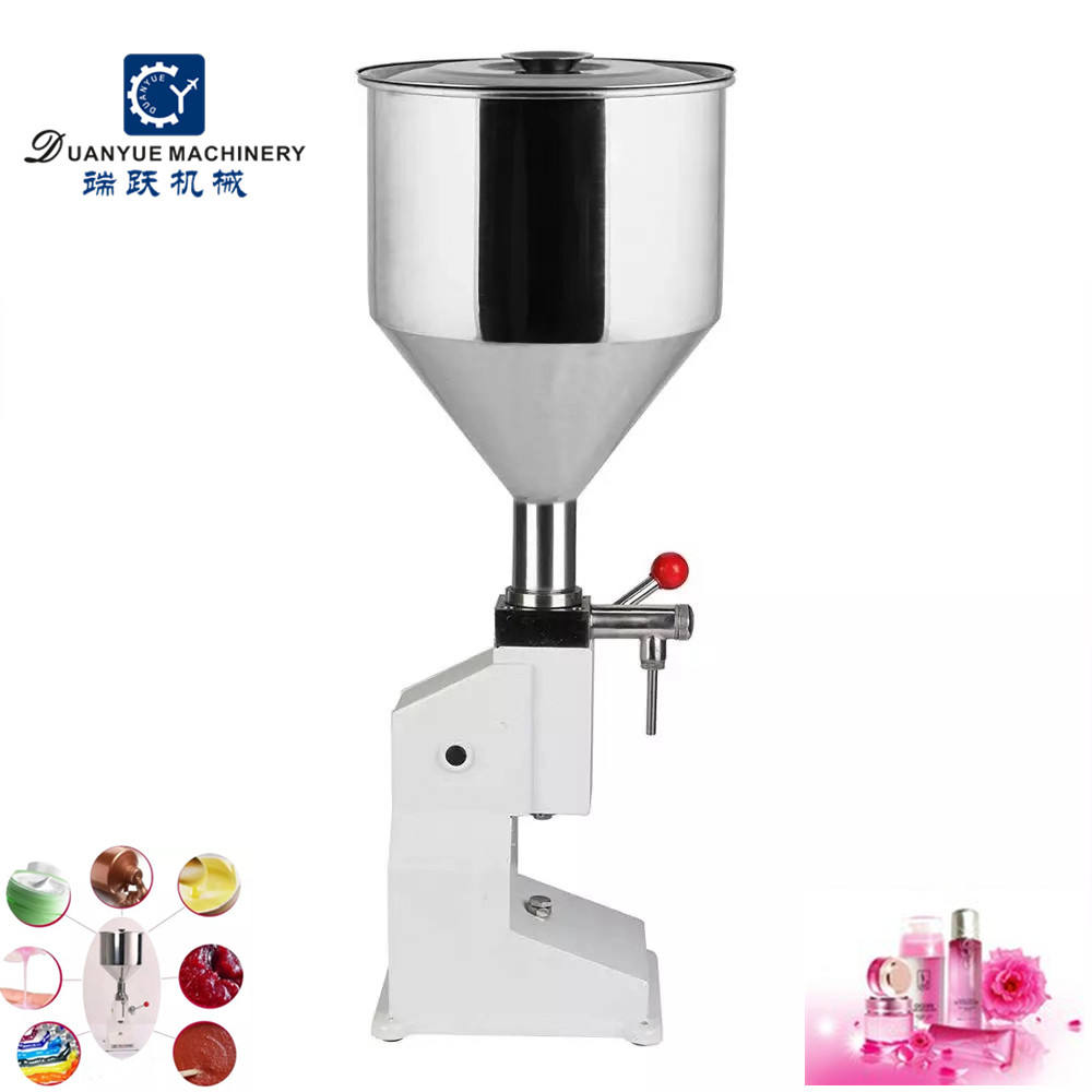 Factory cheap price cosmetic cream filling machine can bottling manual machinery