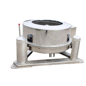 Fruit and vegetable processing to remove moisture centrifugal water rejection machine