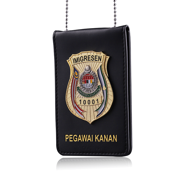 Custom enamel logo cheap metal security officer badges