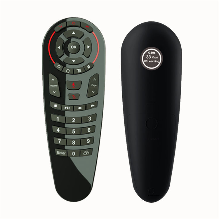 G30 Air Mouse 33 keys IR Learning Gyro Google Voice Search 2.4G Fly Air Mouse G30S Universal Remote Control Keyboard for TV Box