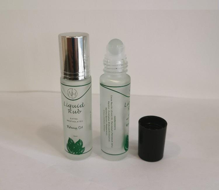 Frosted 10ml clear roll on glass bottle with silk printing low price from China manufacturer
