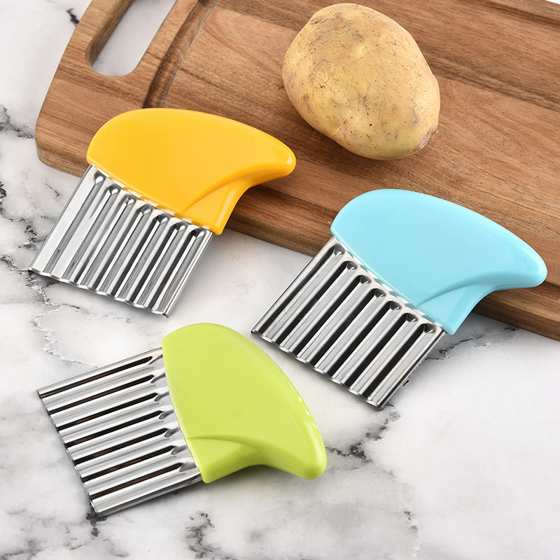 Crinkle cutter salad chopping knife potato chip french fries cutter