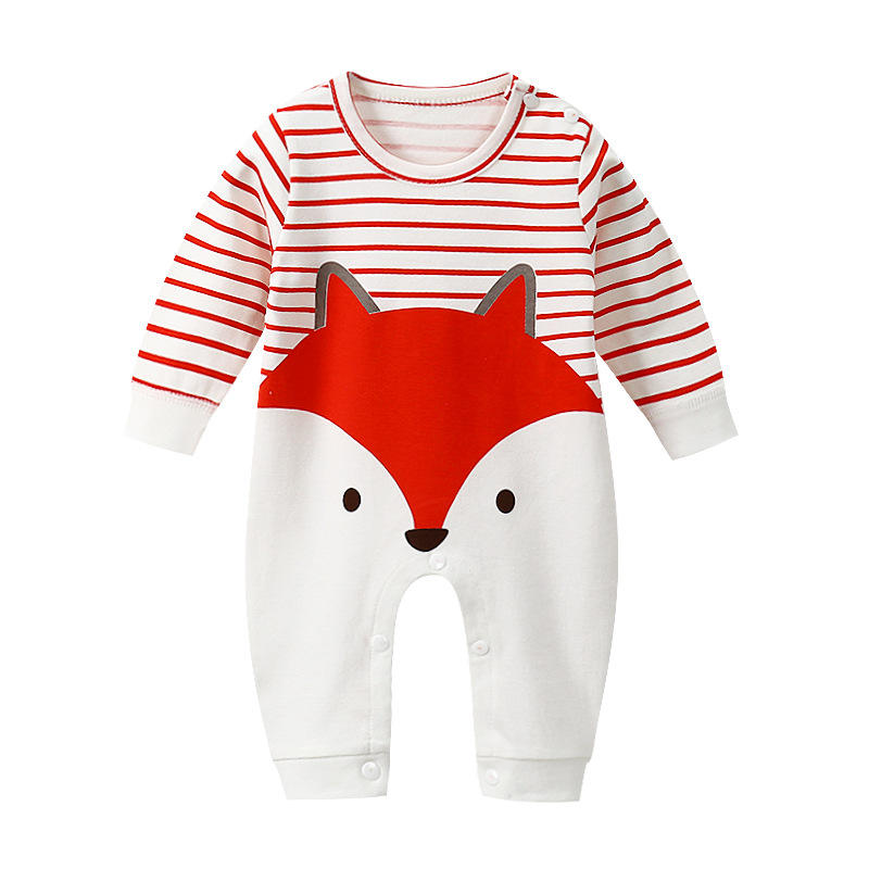 Wholesale and retail baby jumpsuit spring and autumn new cartoon long sleeve cotton romper baby clothing baby clothes