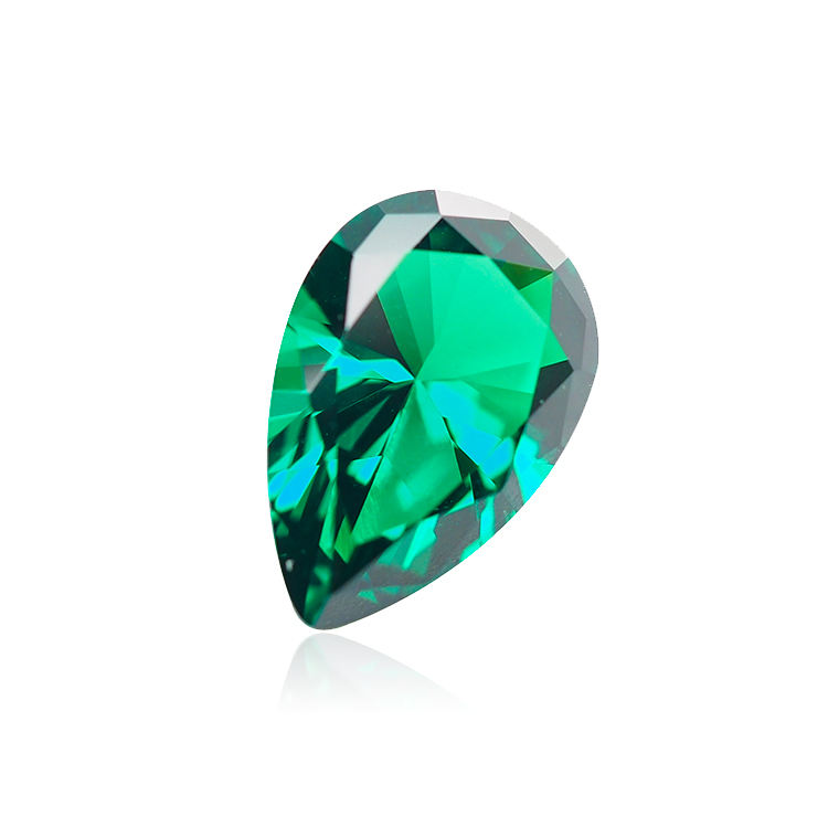 wholesale pear shape princess cut green spinel gemstones for shoes