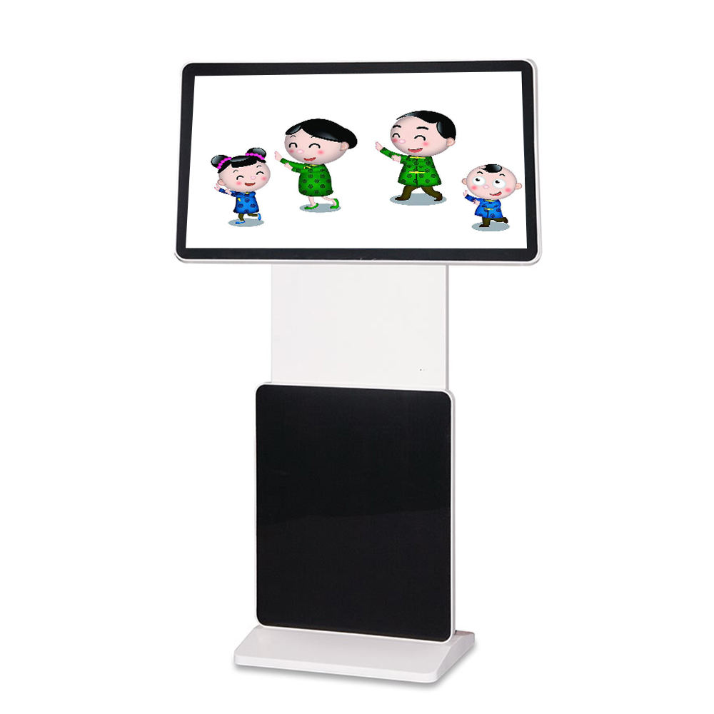 Digital Signage Coperta Ruotare Stand da Pavimento <span class=keywords><strong>Lcd</strong></span> Media Player Android Display Monitor Portatile Chiosco Totem Pubblicità a Schermo