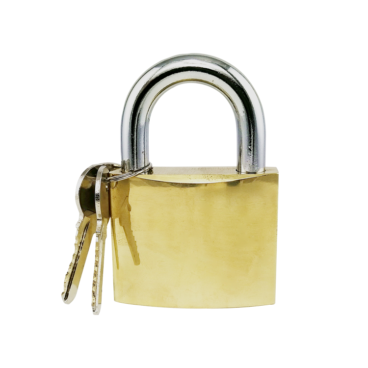 Security Mirror Polished Brass padlock Door locks with brass cylinder Customized Logo OEM Package