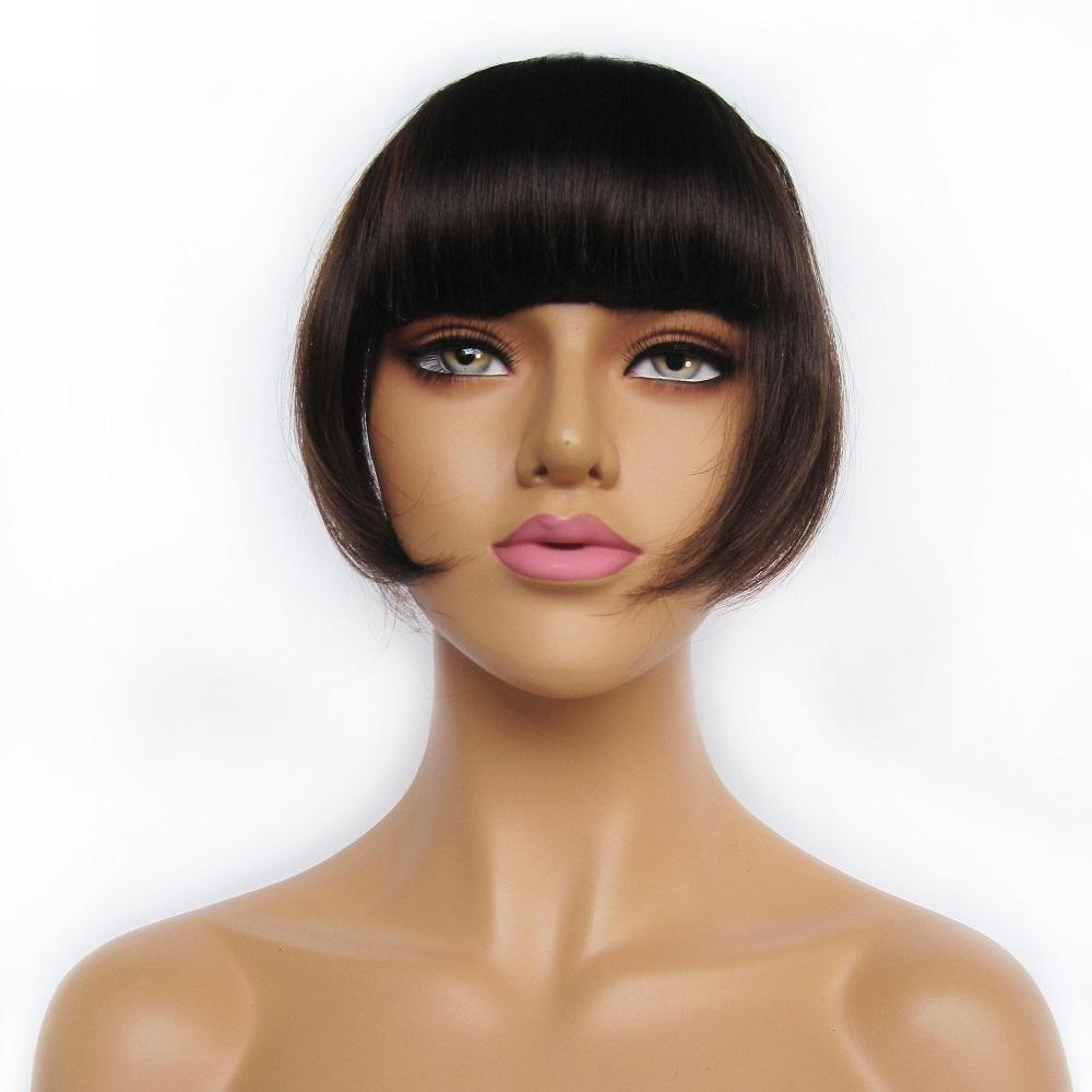 Wholesale cheap Hair Fringe remy hair clip in bangs human hair