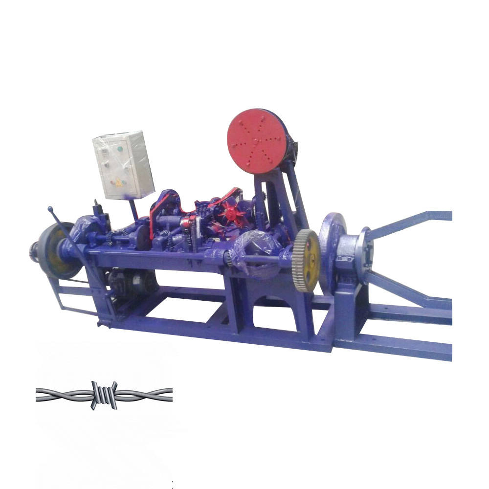 Automatic Barbed Wire Making Machine strand Double strands Barbed wire equipment with 4 pay-off