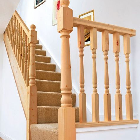 Classic Design Balcony Railings Indoor Stair Wood And Balustrades Handrails wood balusters