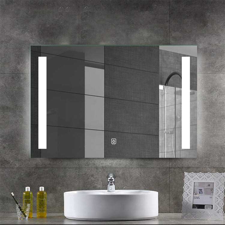 Competitive price illuminated clear silver battery led light bathroom mirror