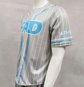 Sublimated print team baseball jersey custom design baseball uniform fabric