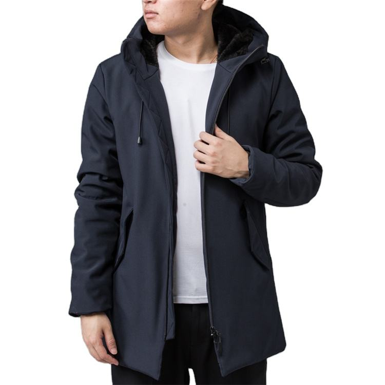 Quality thick ultra light mens down filled winter coat long