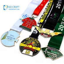 Wholesale cheap custom design your own blank metal zinc alloy 3D 5k 10k marathon running finisher award sports medals