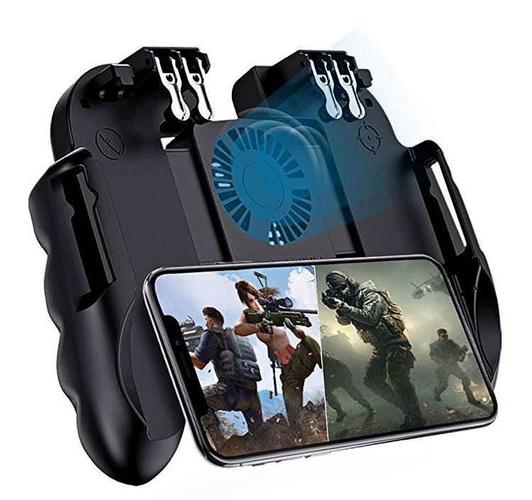 Handle Portable Mobile Phone PUBG Video Game Trigger Button Android Controller 6 Fingers Joystick Gaming Gamepad
