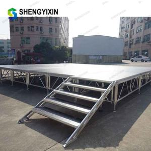 outdoor wedding dj fashion show mobile ALUMINUM TRUSS light removable podium platform portable stage for concert with deck