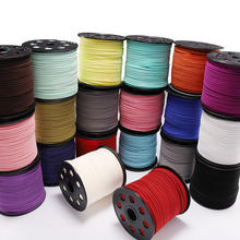 Wholesale 3mm flat leather cord jewelry making bracelet materials faux suede cord