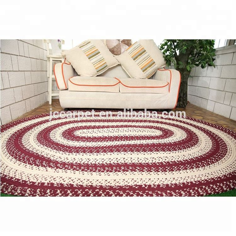 Handmade knotted Living Room braided Shaggy Rugs jump rope mats