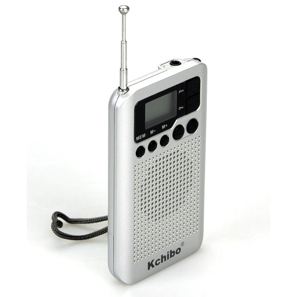 Kchibo hot sale Best Reception Longest Lasting Portable Pocket Digital AM/FM Radio with Alarm Clock Operated by 2 AAA Battery
