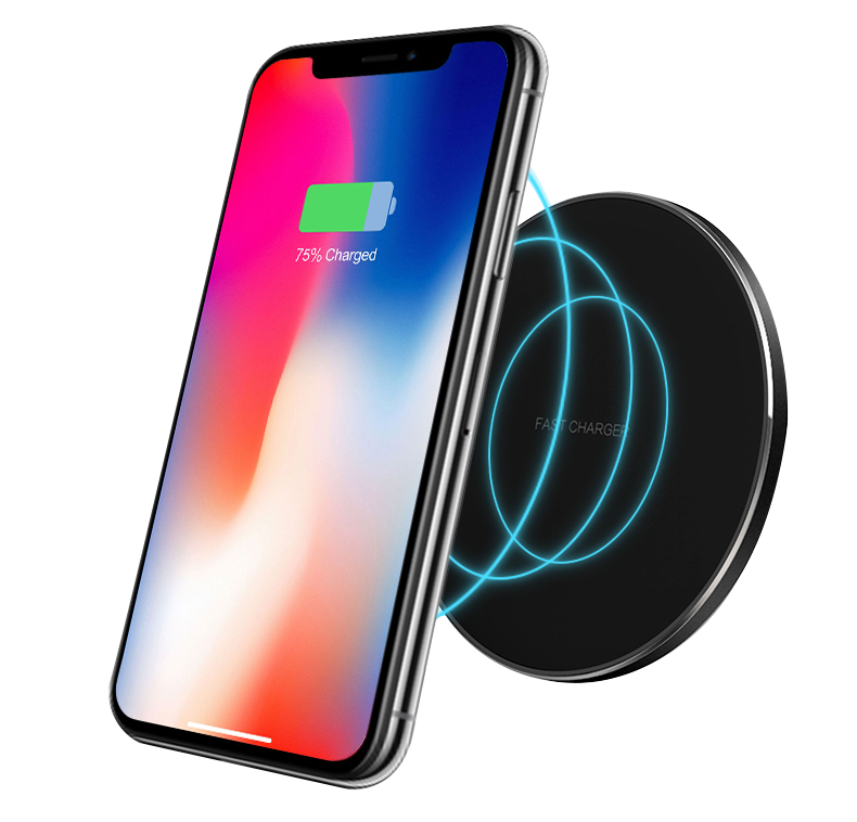 Newly Round QI Wireless Charger Mount Fast Charging Pad Base
