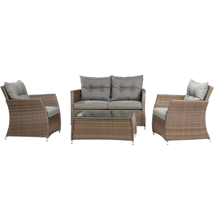 Wholesale Outdoor 4PC Conversation Rattan Wicker Furniture Set