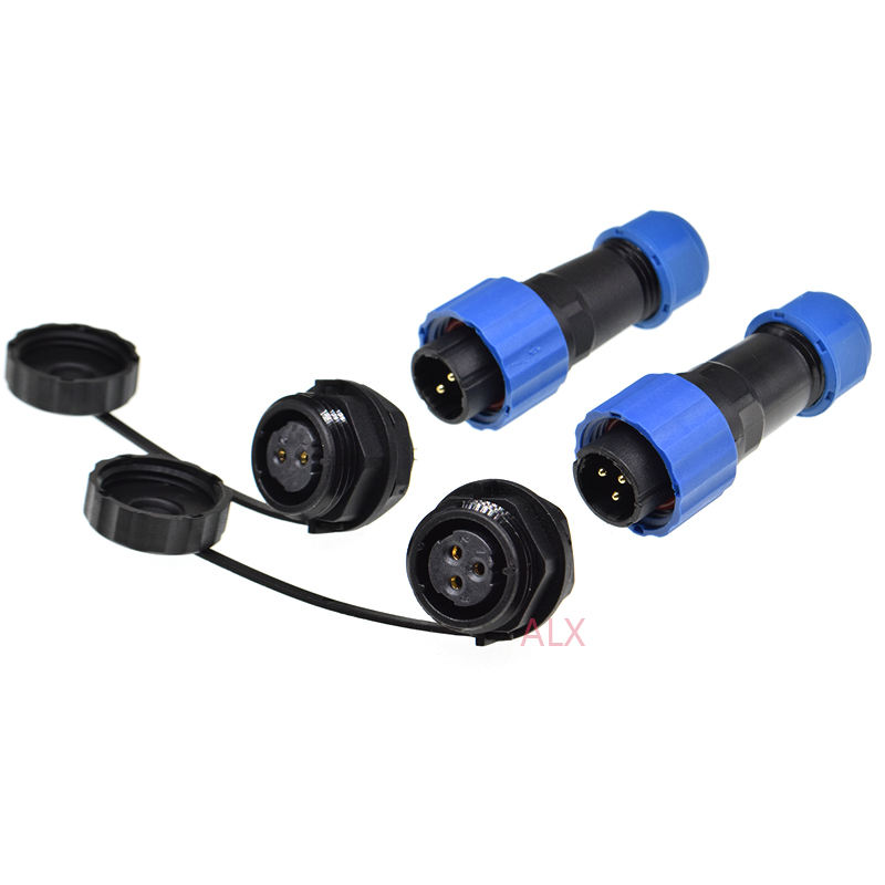 SP16 IP68 impermeable conector macho y hembra 2/3/4/5/6/7 /8/9 pin panel montaje de conector de cable de enchufe
