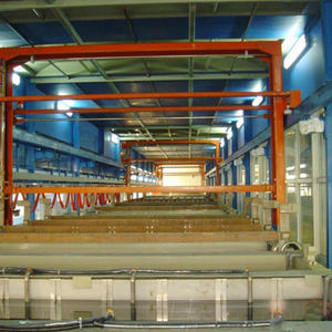 Automatic Production Line of Metal Zinc Electroplating Equipment electroplating machines barrel plating equipment