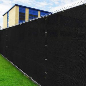JINGQI RTS Double Eleven 6' x 50' Black or Green UV Block HDPE Outdoor Garden Privacy Screen Fence