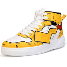 Aliexpress Wish Hot-selling Quality Dropship Admitting Comfortable High Top Men Pikachu Sneakers Shoes