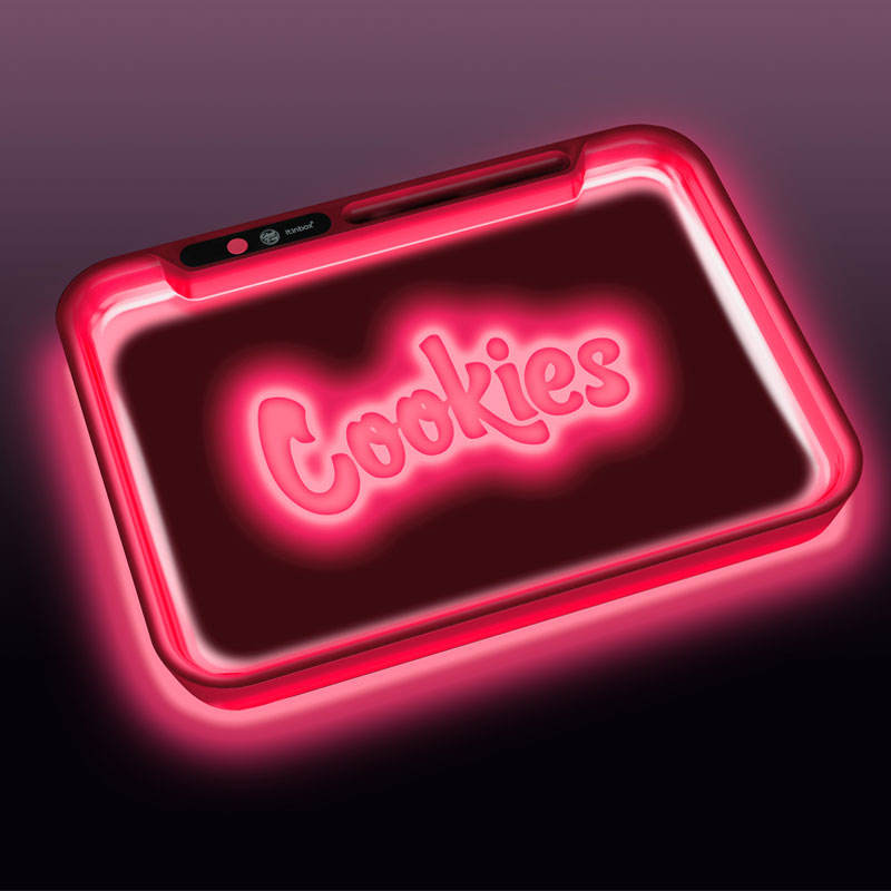 New arrival hot popular backlit weed rolling tray,custom logo fast shipment factory glow led tray cookies packaging tray