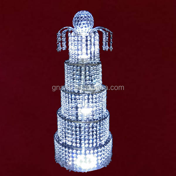 Canada style romantic crystal wedding centerpiece , table decoration 5 tire acrylic crystal bling center piece