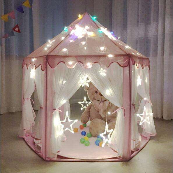 Kids Tent 2021 Hot Sale Outdoor Indoor Princess Castle House Kids Play Toy Tent For Girls