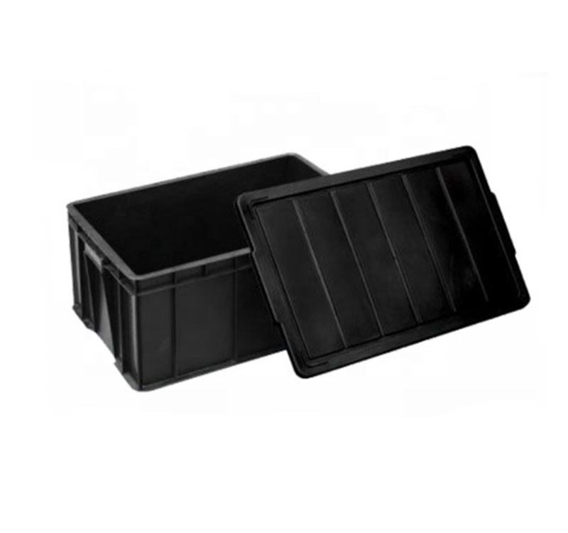 Plastic Antistatic Container ESD Component Package Tool Storage Box Bins with Lid