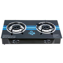 Wholesale china direct supply popular new design big 2 burner built tempered glass gas stove