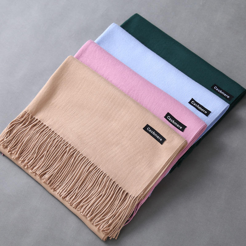 Factory Wholesale Cashmere Tassel Shawl Women Pashmina Scarf Custom Winter Scarf