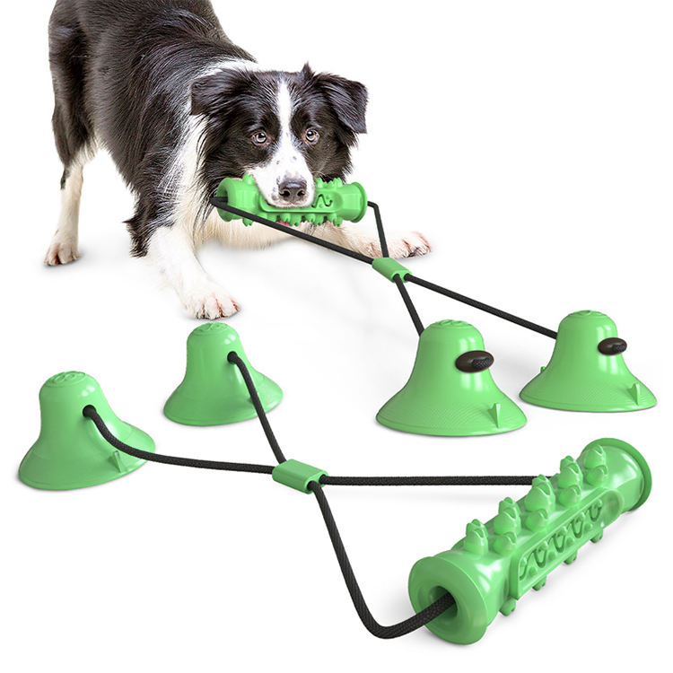 interactive bite pull Toy double Suction Cup Chew Rope tooth clean dog Toys