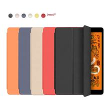 Soft Silicone Back Cover PU Leather Shockproof for New iPad 10.2 inch 2019 Tablet Case for iPad 7th Generation