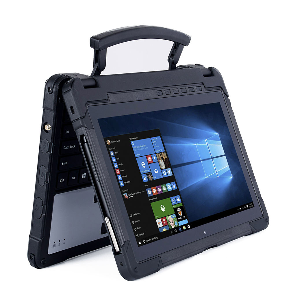 Emfaith EX-11GB 11.6 Inch Win10 Industrial Notebook With Nfc Fingerprint 2D Barcode Scanner Intel Rugged Notebook Computer
