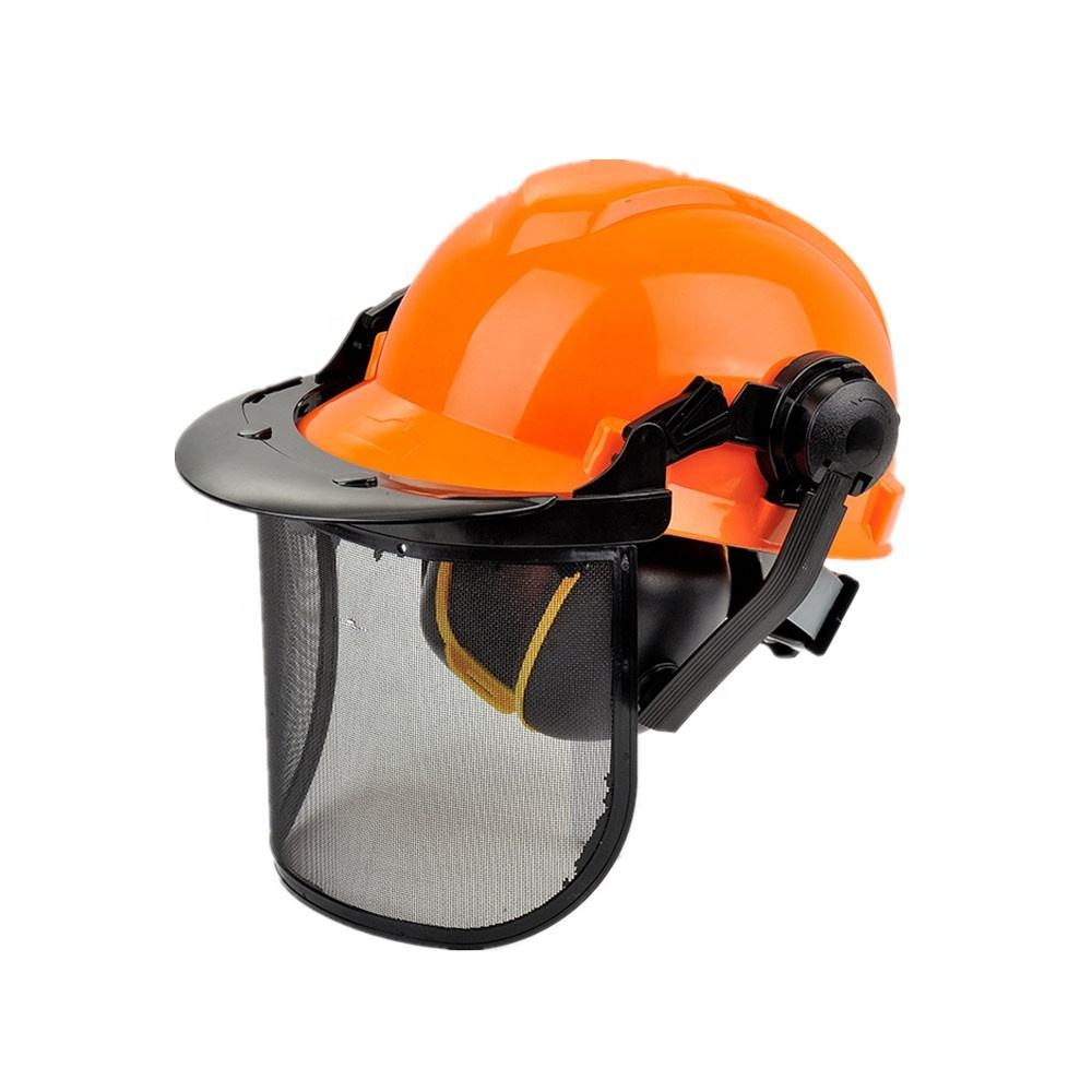 ANT5 Forestry Safety Helmet Face Shields Ear Muff Protection Kit Head Hearing Face with CE standard HDPE Hard Hats construction