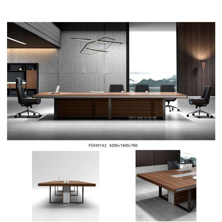 2.8 Meter Conference Table Modern Wooden Style Large Meeting Desk for 10 Person Overall Office Furniture Solution Provider