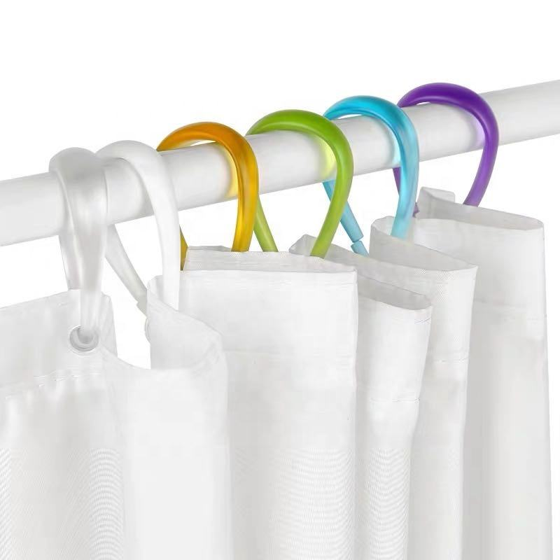 Heavy duty shower curtain hooks plastic shower curtain liner ring for bathroom