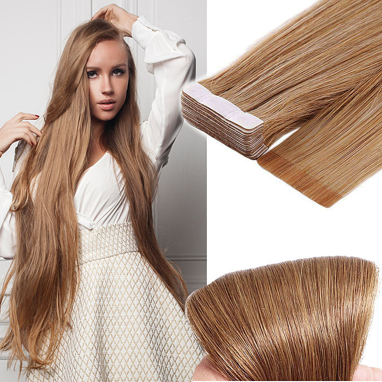 Jiffy hair wholesale double side hair extension dropship indian tape hair