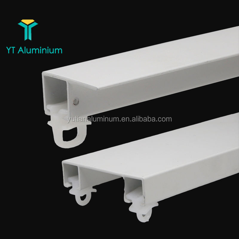 Custom Aluminium Metal Modern Curtain Rails Corner Curved Window Sliding Curtain Track